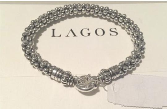 Lagos LAGOS Caviar Bracelet Beaded Sterling Silver Rope 7mm NEW Image 1
