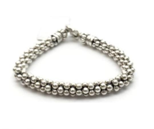 Lagos LAGOS Caviar Bracelet Beaded Sterling Silver Rope 7mm NEW Image 3