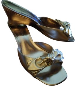 Etienne Aigner Gold Sandals