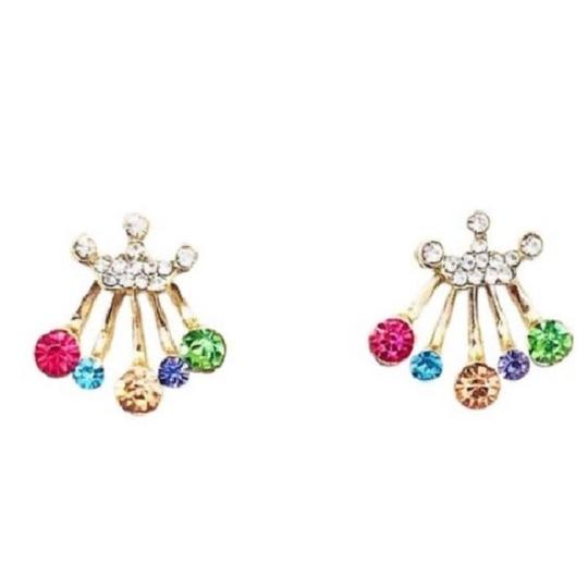 Preload https://img-static.tradesy.com/item/25951356/rebecca-minkoff-gold-and-blue-and-pink-crystal-jacket-earrings-0-0-540-540.jpg