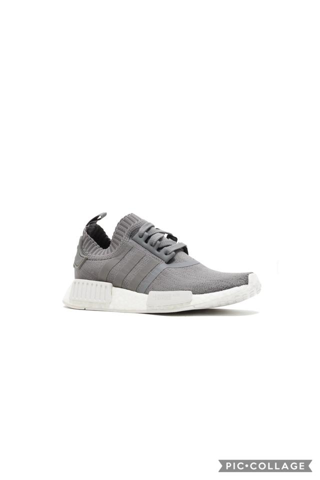 uk availability 5038d 1e959 adidas Gray and White Women's Nmd_r1 Prime Knit Running Sneakers Size US  7.5 Regular (M, B) 8% off retail