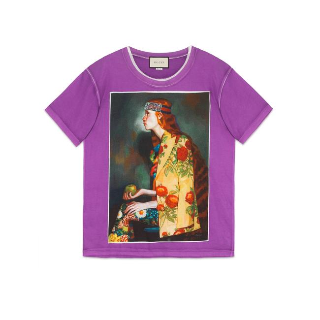 Preload https://img-static.tradesy.com/item/25951419/gucci-purple-women-s-oversized-ignasi-monreal-print-tee-shirt-size-12-l-0-0-650-650.jpg