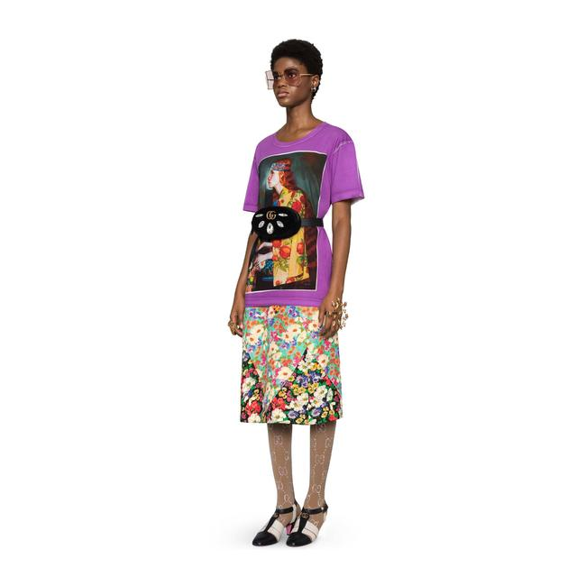 Gucci T Shirt Purple Image 2