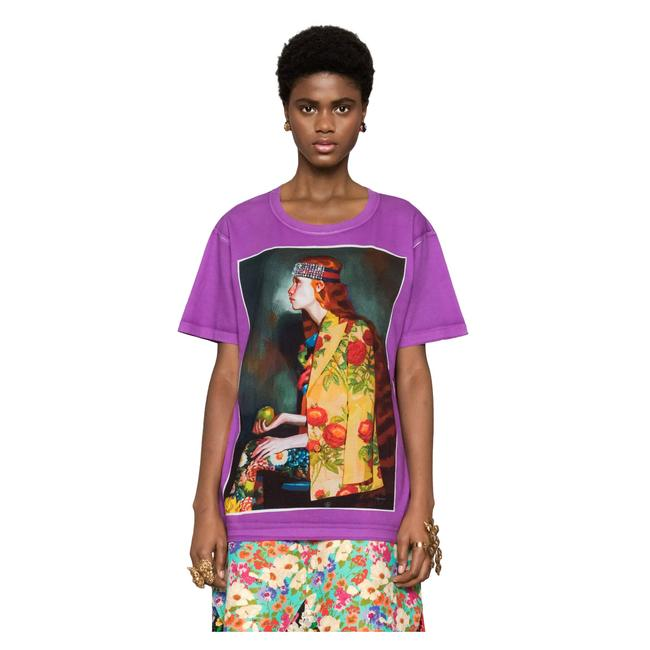 Gucci T Shirt Purple Image 3