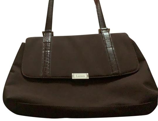 Preload https://img-static.tradesy.com/item/25951425/ralph-lauren-black-label-chocolate-formal-brown-nylon-leather-baguette-0-3-540-540.jpg