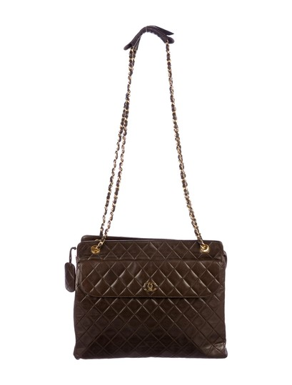 Preload https://img-static.tradesy.com/item/25951435/chanel-vintage-quilted-cc-black-brown-lambskin-leather-shoulder-bag-0-0-540-540.jpg