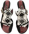 Beverly Feldman Black & Burgundy Sandals Image 0