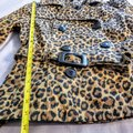 H&M Cheetah Fall Leopard Buttons Trench Coat Image 10