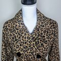 H&M Cheetah Fall Leopard Buttons Trench Coat Image 3