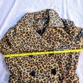 H&M Cheetah Fall Leopard Buttons Trench Coat Image 9