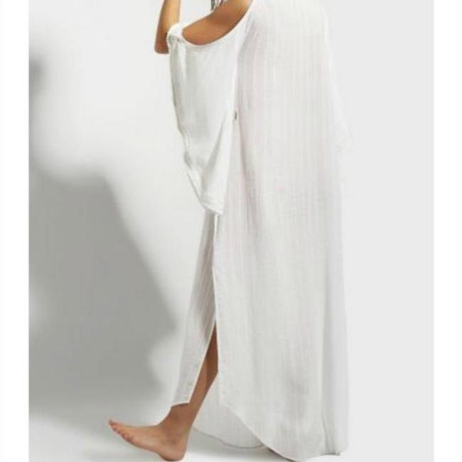 White Maxi Dress by Calypso St. Barth Coverup Boho Resort Embroidered Cold-shoulder Image 4
