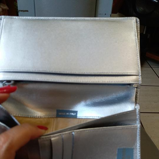 Chanel Glossy Silver Clutch Image 8