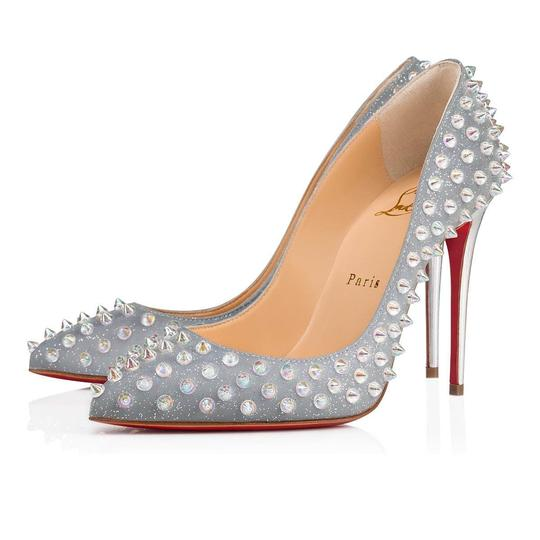 Preload https://img-static.tradesy.com/item/25951601/christian-louboutin-silver-follies-spikes-100-grey-tissu-reflex-pigalle-stiletto-heel-pumps-size-eu-0-0-540-540.jpg