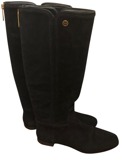 Tory Burch Irene Leather Black Boots Image 0