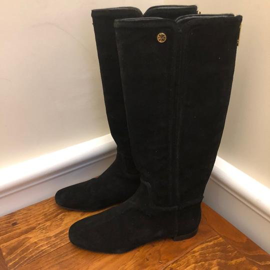 Tory Burch Irene Leather Black Boots Image 1
