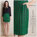 Anthropologie Mini Skirt emerald green Image 2