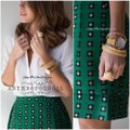 Anthropologie Mini Skirt emerald green Image 5