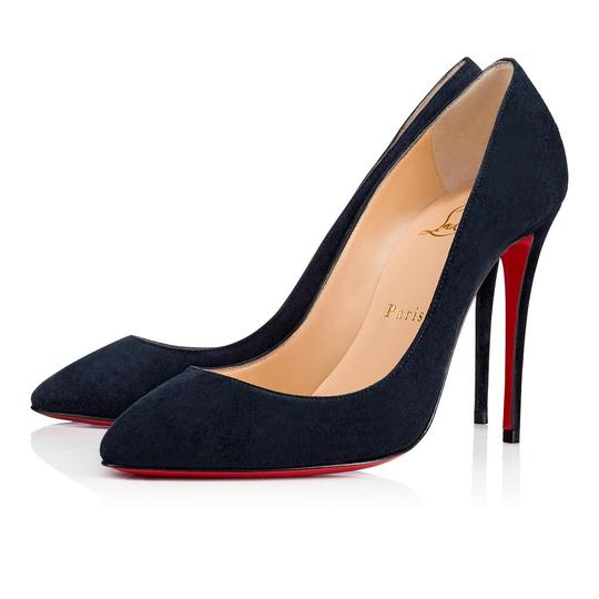 Christian Louboutin Pigalle Follies Stiletto Suede Classic blue Pumps Image 0