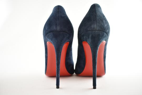 Christian Louboutin Pigalle Follies Stiletto Suede Classic blue Pumps Image 10