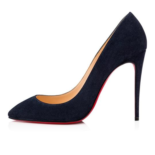 Christian Louboutin Pigalle Follies Stiletto Suede Classic blue Pumps Image 2