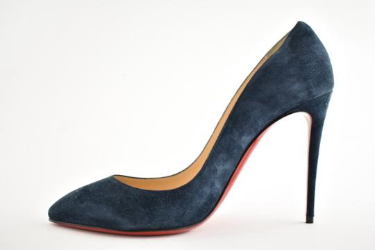 Christian Louboutin Pigalle Follies Stiletto Suede Classic blue Pumps Image 7