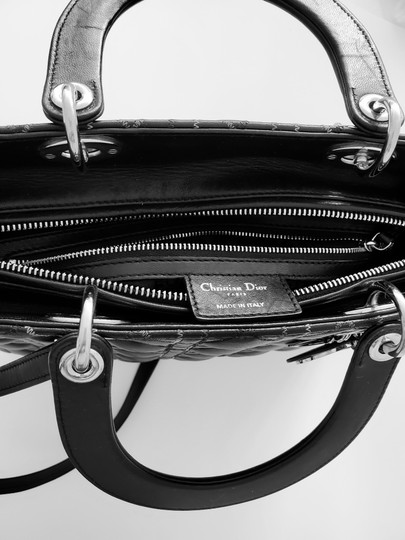Dior Two-tone Leather Valentino Lady Tote in Black Image 10