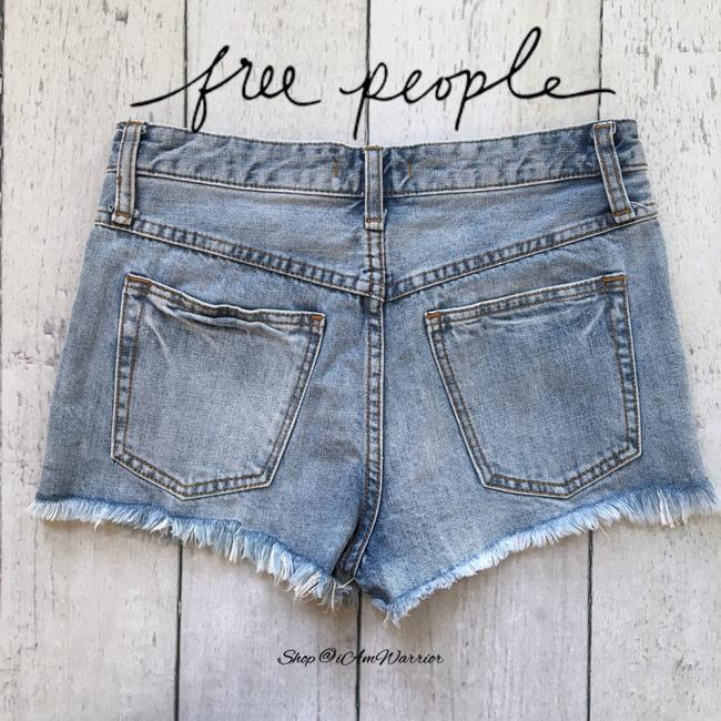Free People Cut Off Shorts blue Image 3
