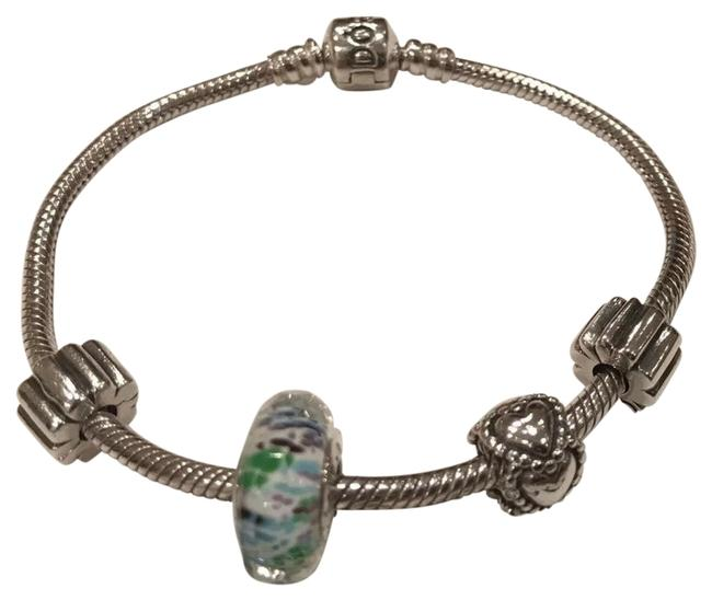 """PANDORA 925 Ale Sterling Silver 7.5"""" with Charms Bracelet PANDORA 925 Ale Sterling Silver 7.5"""" with Charms Bracelet Image 1"""