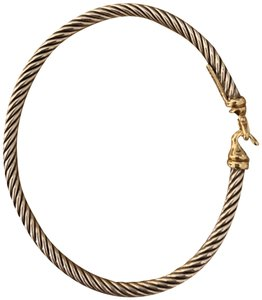 David Yurman Cable Collectibles Buckle Bangle Bracelet with 18K Gold, 3 mm