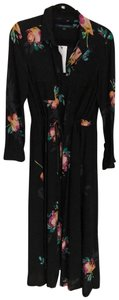 black with floral print Maxi Dress by French Connection