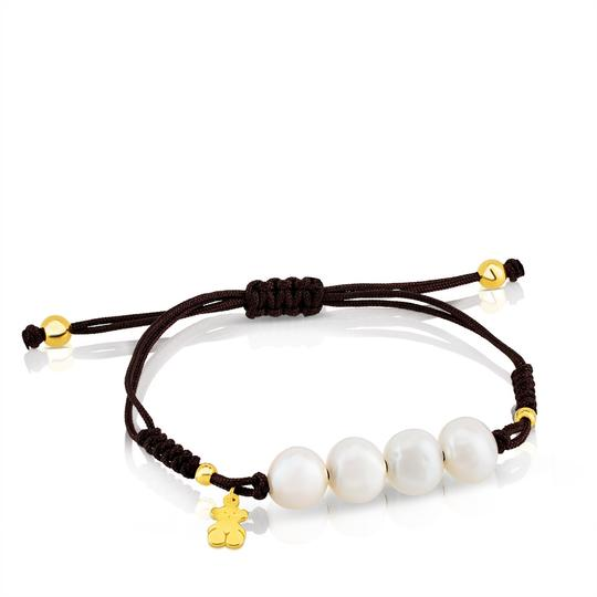 TOUS TOUS Nudos bracelet in vermeil silver with 0.9-1 cm cultured pearls. B Image 2