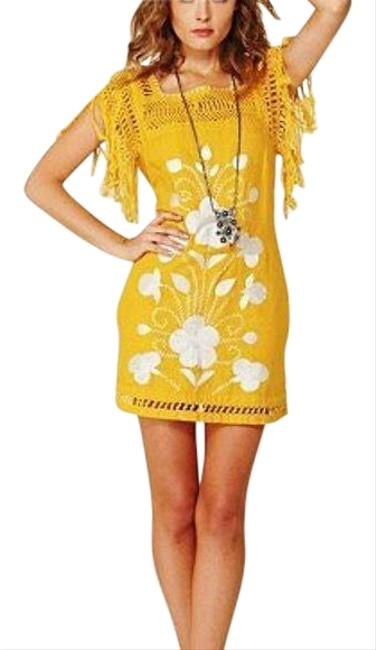 Preload https://img-static.tradesy.com/item/25952017/free-people-gold-mustard-yellow-embroidered-mini-short-casual-dress-size-0-xs-0-1-650-650.jpg