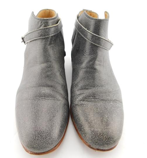 Dieppa Restrepo Mer Taupe Strap Buckle Gray Boots Image 1