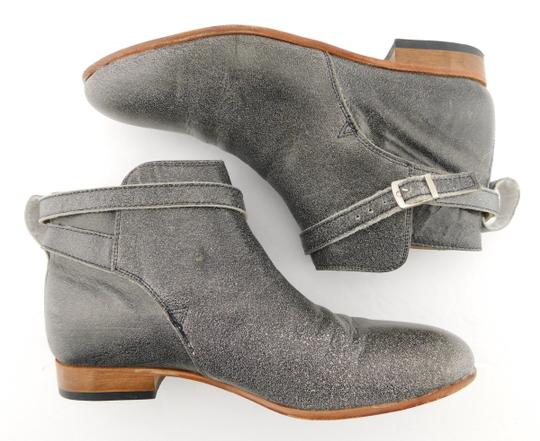 Dieppa Restrepo Mer Taupe Strap Buckle Gray Boots Image 2
