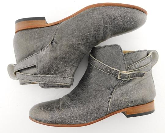 Dieppa Restrepo Mer Taupe Strap Buckle Gray Boots Image 3