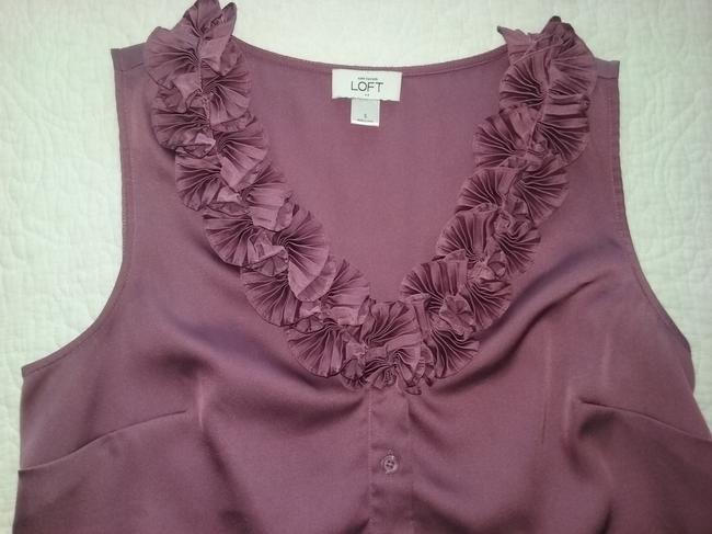 Ann Taylor LOFT Valentino Chanel Gucci Coach Bling Top Dusty Rose Image 1