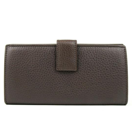 Gucci Brown Leather GG Horsebit Long Wallet with GRG Web 295351 2061 Image 1