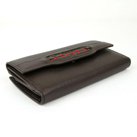Gucci Brown Leather GG Horsebit Long Wallet with GRG Web 295351 2061 Image 2