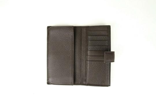 Gucci Brown Leather GG Horsebit Long Wallet with GRG Web 295351 2061 Image 4