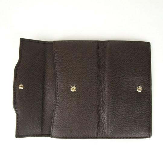 Gucci Brown Leather GG Horsebit Long Wallet with GRG Web 295351 2061 Image 5
