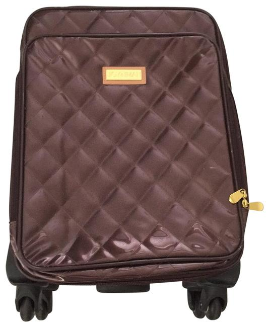 Item - Brown and Gold Quilted Rolling Luggage