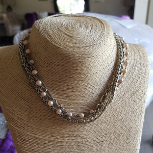 David Yurman David Yurman Multi Chain Pearl Gold and Silver Necklace