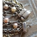 David Yurman David Yurman Multi Chain Pearl Gold and Silver Necklace Image 1