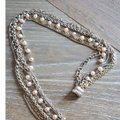 David Yurman David Yurman Multi Chain Pearl Gold and Silver Necklace Image 4