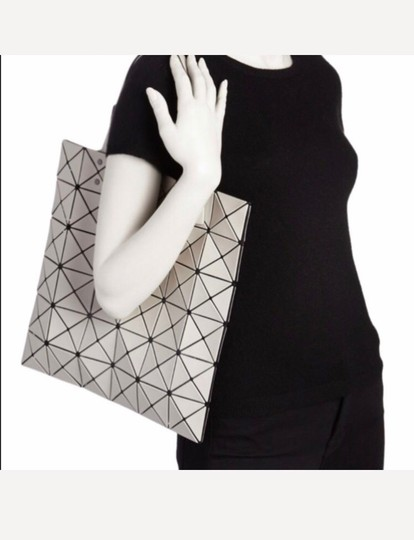 Issey Miyake Tote in Motty Grey Image 1