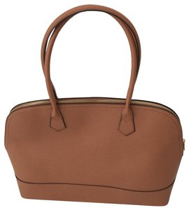 Not branded Simple Basic Clean Classic Professional Satchel in Tan