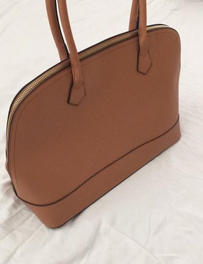 Not branded Simple Basic Clean Classic Professional Satchel in Tan Image 2