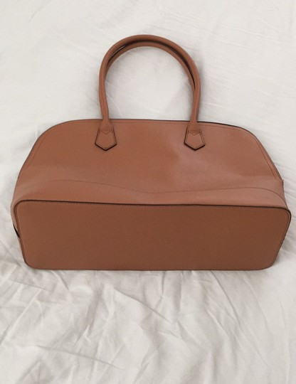 Not branded Simple Basic Clean Classic Professional Satchel in Tan Image 4