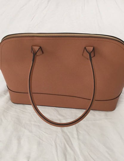 Not branded Simple Basic Clean Classic Professional Satchel in Tan Image 5