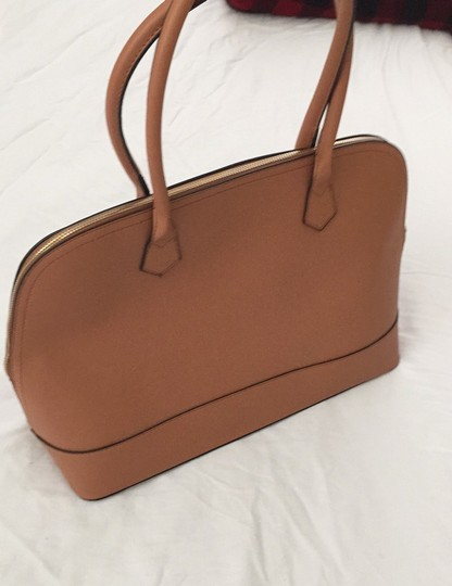 Not branded Simple Basic Clean Classic Professional Satchel in Tan Image 8